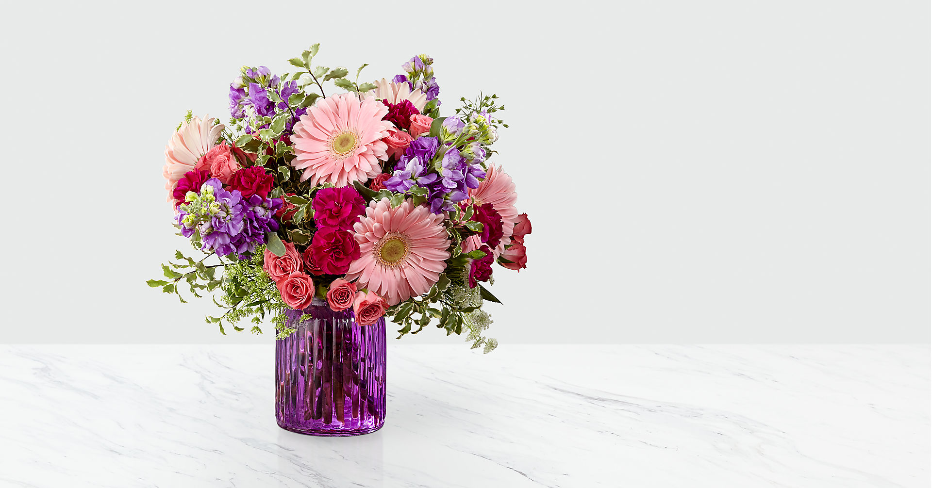 Purple Prose™ Bouquet by FTD®- VASE INCLUDED - Image 1 Of 3