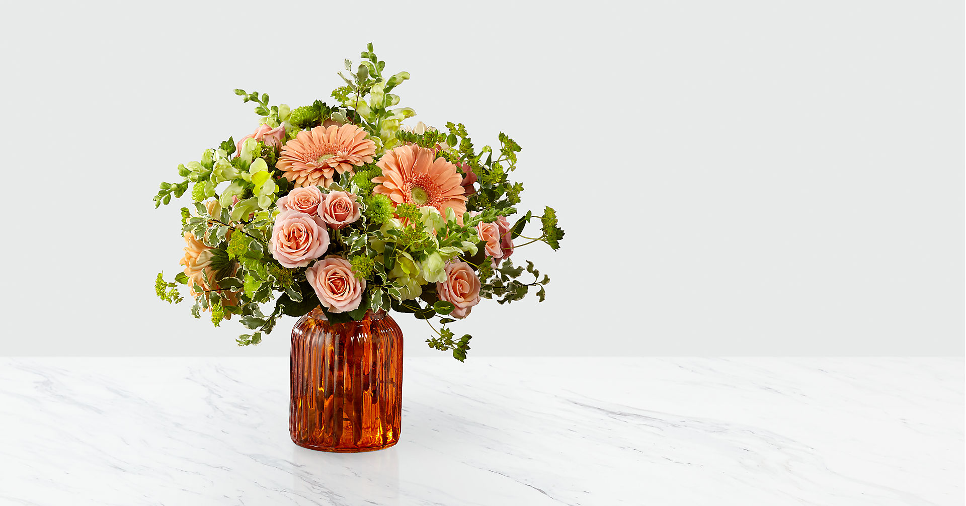 Peachy Keen™ Bouquet by FTD® - VASE INCLUDED - Image 1 Of 3