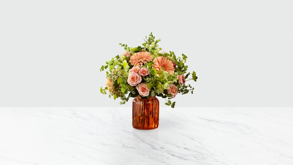 Peachy Keen™ Bouquet by Better Homes and Gardens® - VASE INCLUDED - Thumbnail 1 Of 3