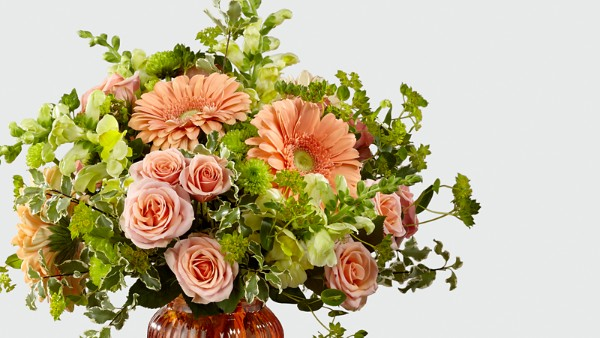 Peachy Keen™ Bouquet by Better Homes and Gardens® - VASE INCLUDED - Thumbnail 3 Of 3