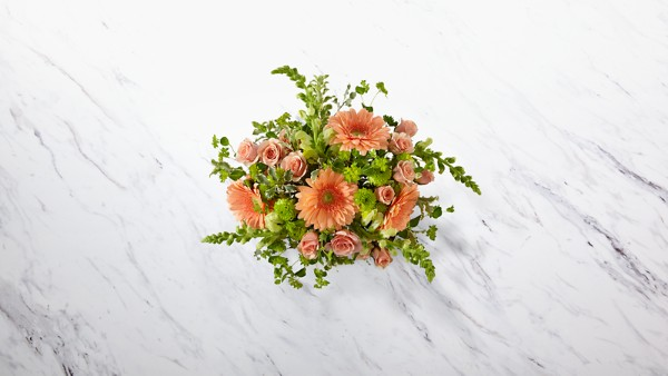 Peachy Keen™ Bouquet by Better Homes and Gardens® - VASE INCLUDED - Thumbnail 2 Of 3