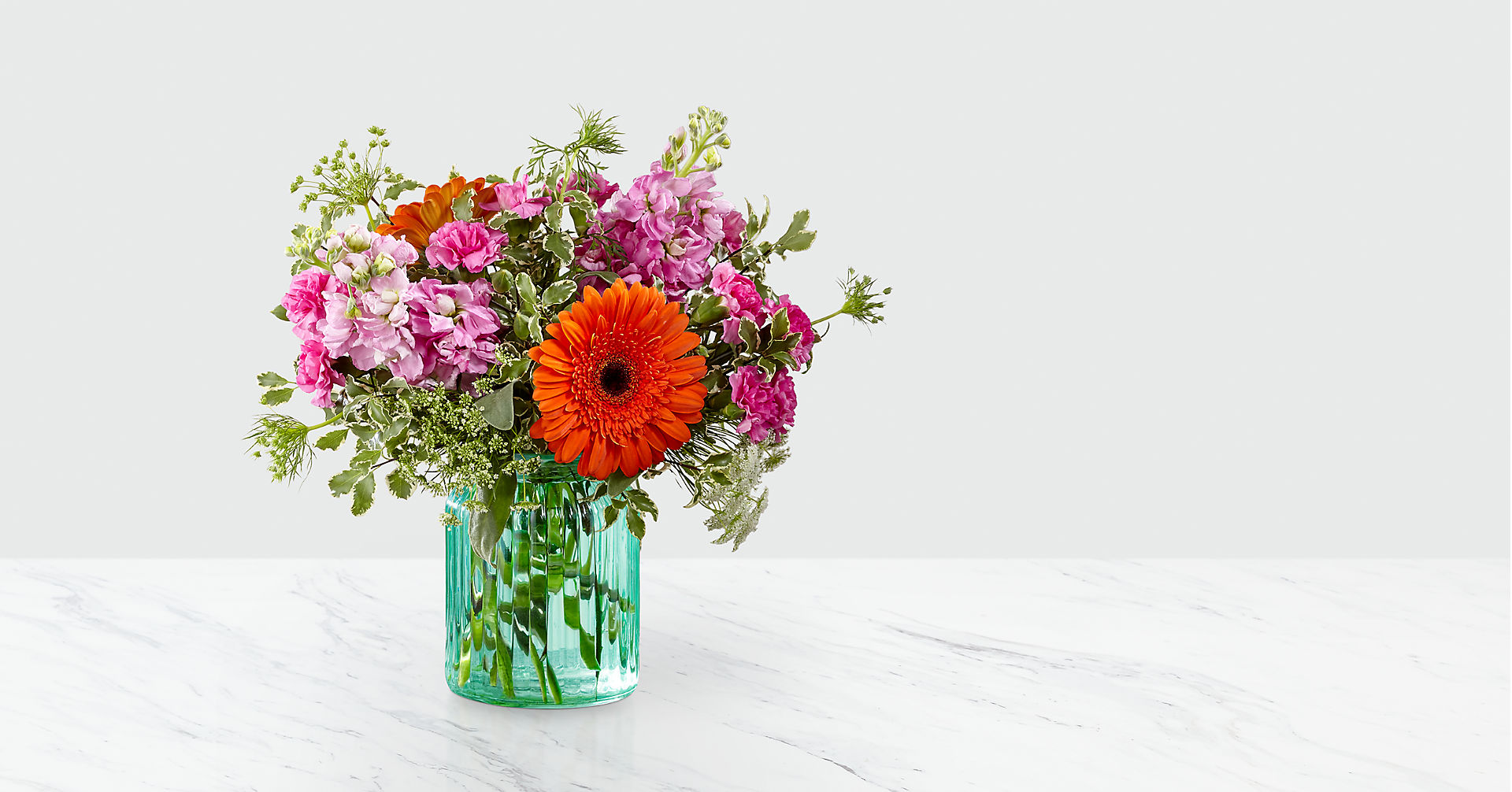 Aqua Escape™ Bouquet by FTD® - VASE INCLUDED - Image 1 Of 4