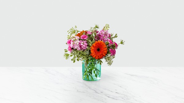 Aqua Escape™ Bouquet by FTD® - VASE INCLUDED - Image 1 Of 2