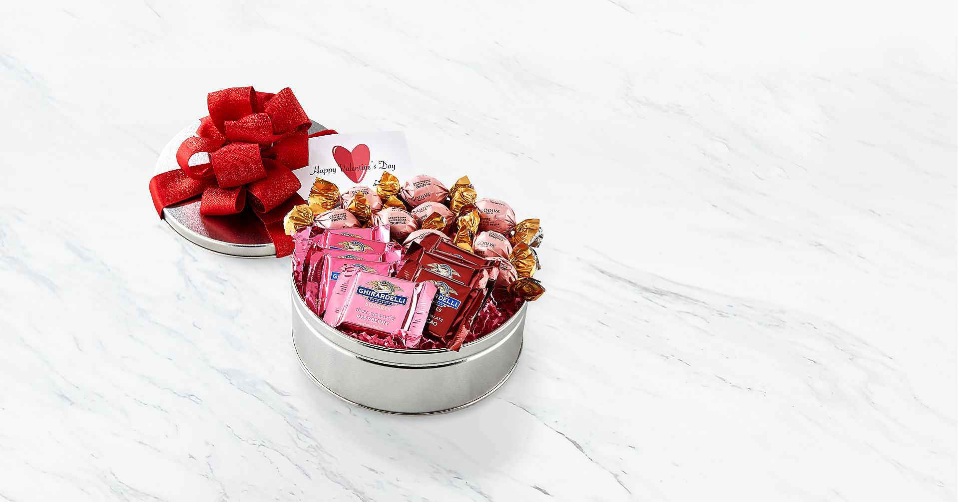 Chocolate Lover's Valentines Assortment Gift Tin - Image 1 Of 2