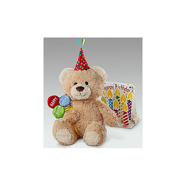 Belgian Chocolate Dipped Birthday Berry, Brownie Pop, Bear & Card - Image 2 Of 3
