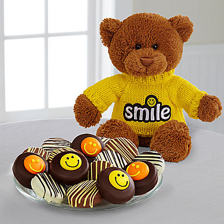 Belgian Chocolate Dipped Smile Sensation OreoR Cookies Bear