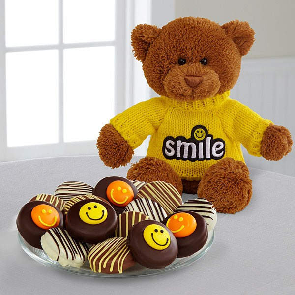 Belgian Chocolate Dipped Smile Sensation Oreo® Cookies & Bear