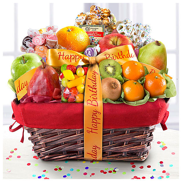 Happy Birthday Gourmet Fruit Basket