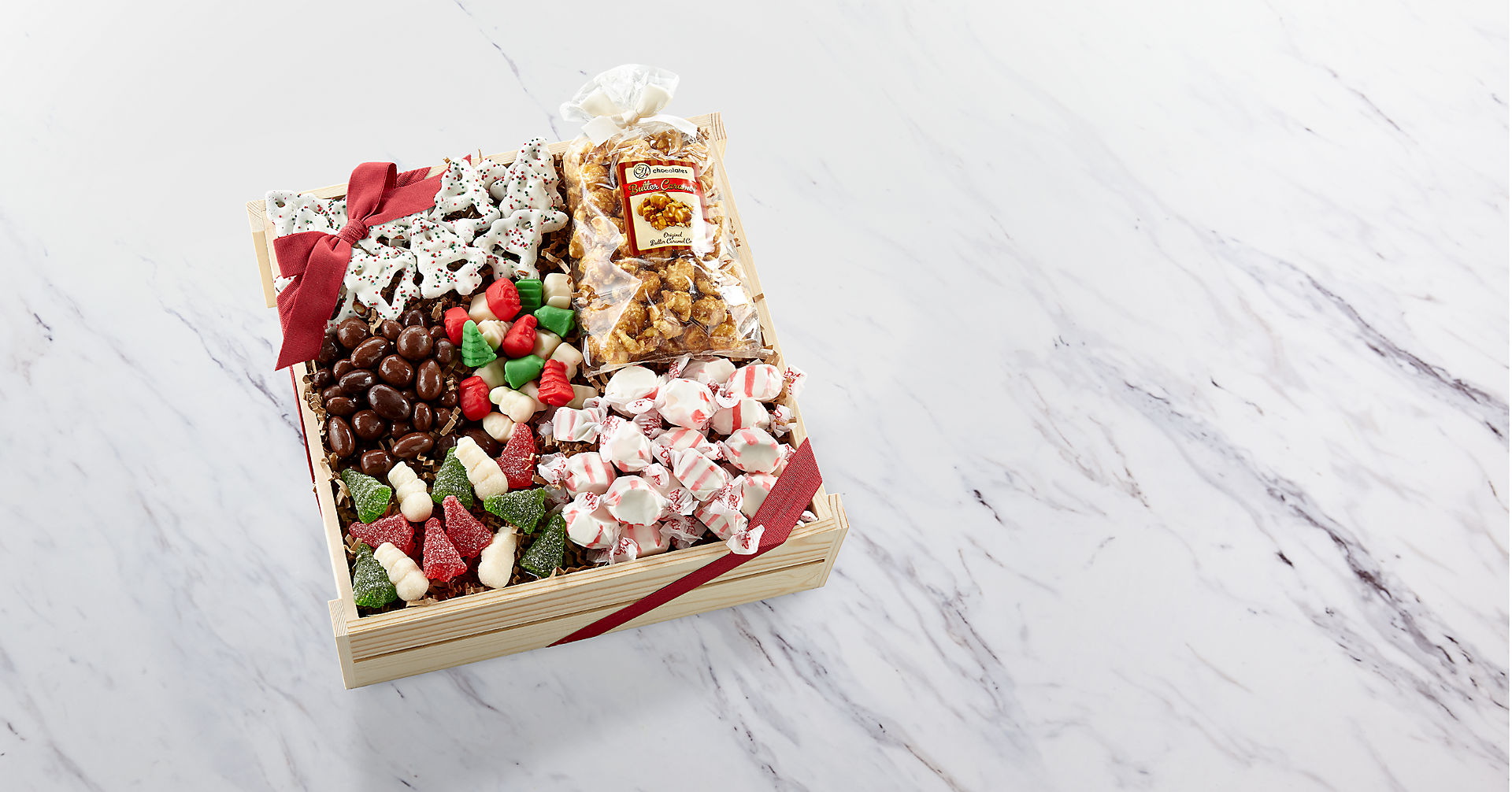 Holiday Delights Chocolate & Sweets Gourmet Gift Basket - GOOD - Image 1 Of 2