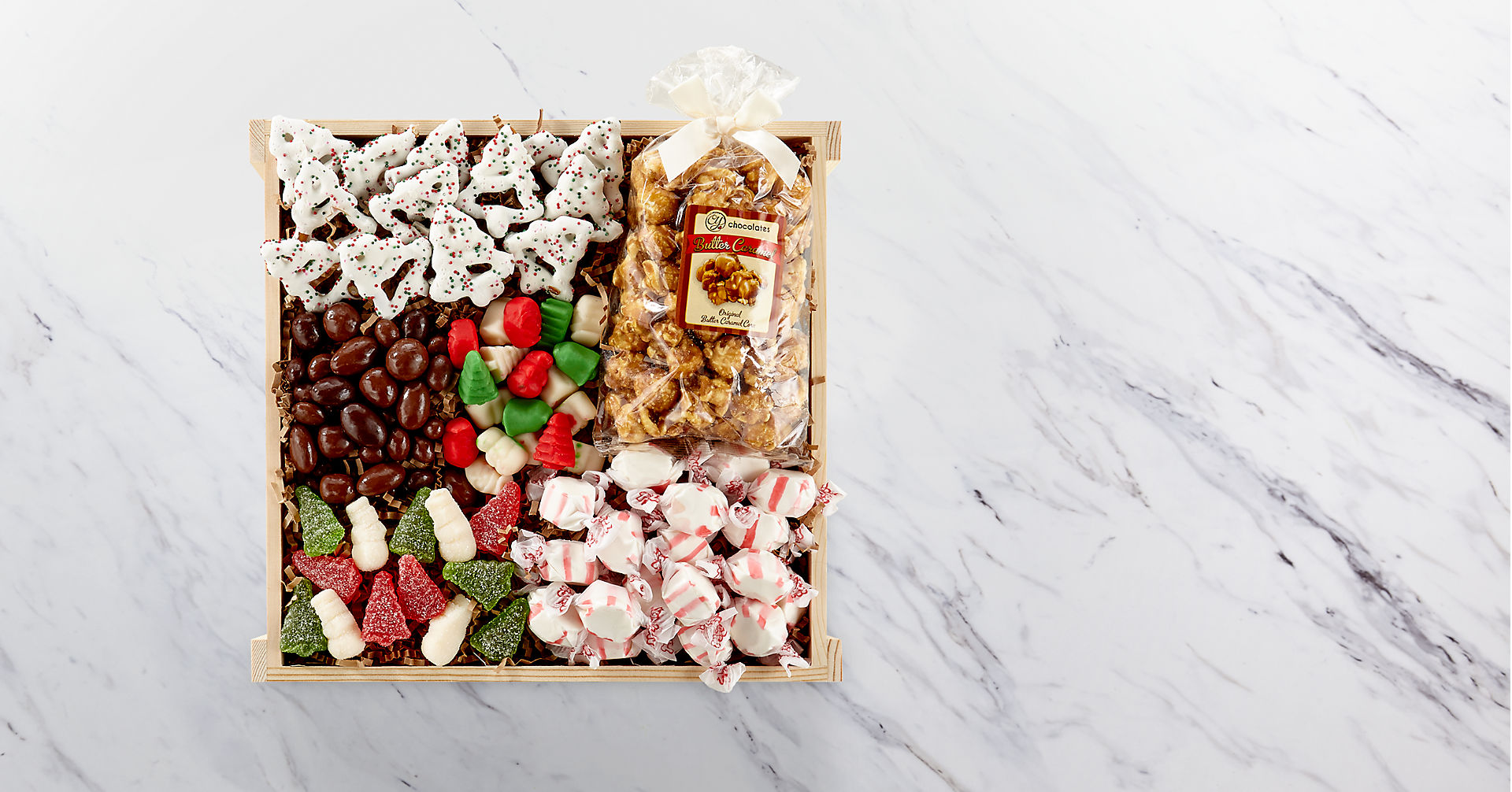 Holiday Delights Chocolate & Sweets Gourmet Gift Basket - GOOD - Image 2 Of 2