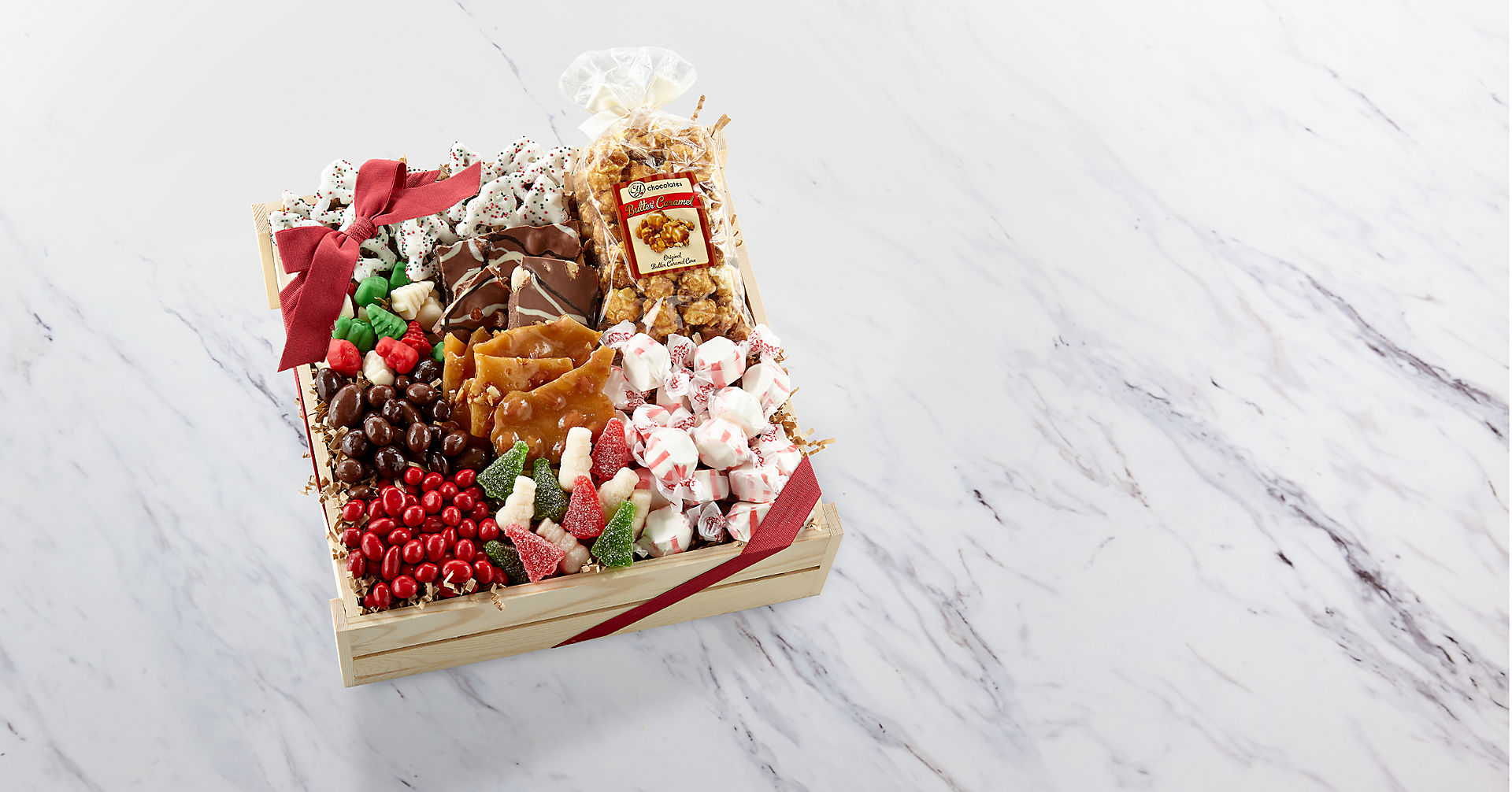 Holiday Delights Chocolate & Sweets Gourmet Gift Basket - BETTER - Image 1 Of 2