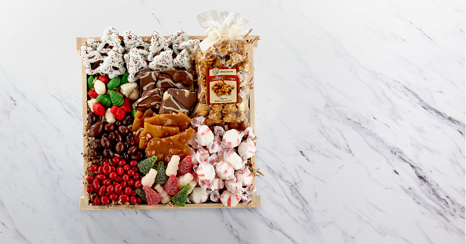 Holiday Delights Chocolate & Sweets Gourmet Gift Basket - BETTER - Image 2 Of 2
