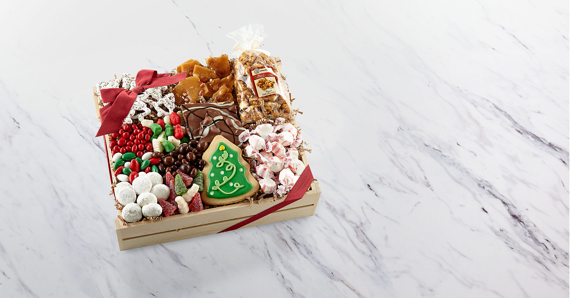 Holiday Delights Chocolate & Sweets Gourmet Gift Basket - BEST - Image 1 Of 2