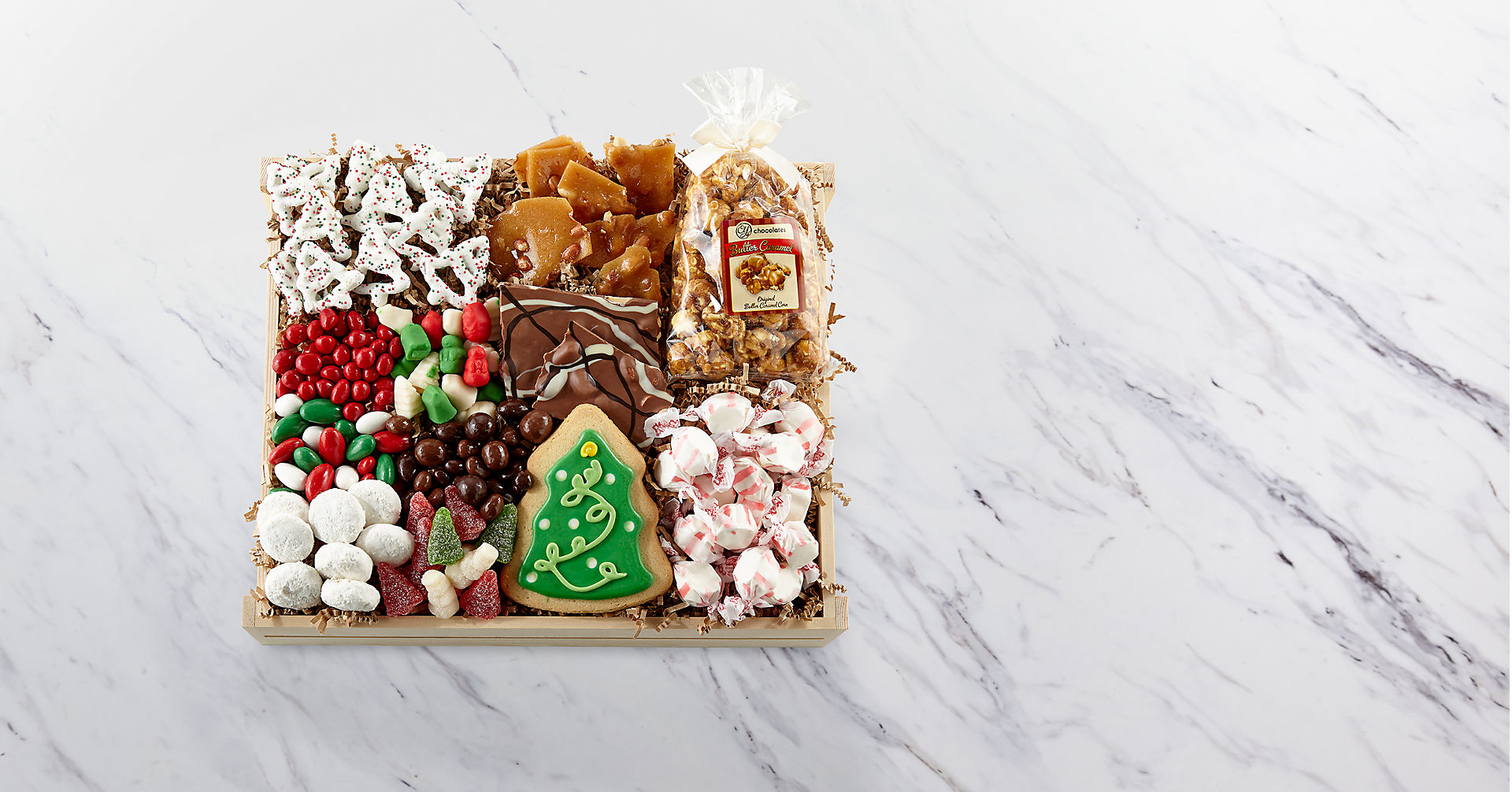 Holiday Delights Chocolate & Sweets Gourmet Gift Basket - BEST - Image 2 Of 2