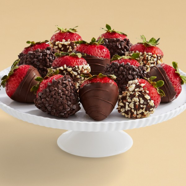 Full Dozen Hand-Dipped All Dark Strawberries
