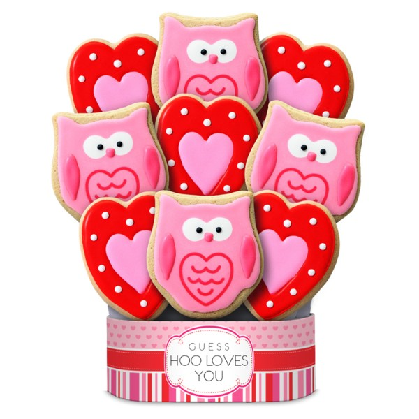 Hoo Loves You 9 Piece Cookie Bouquet