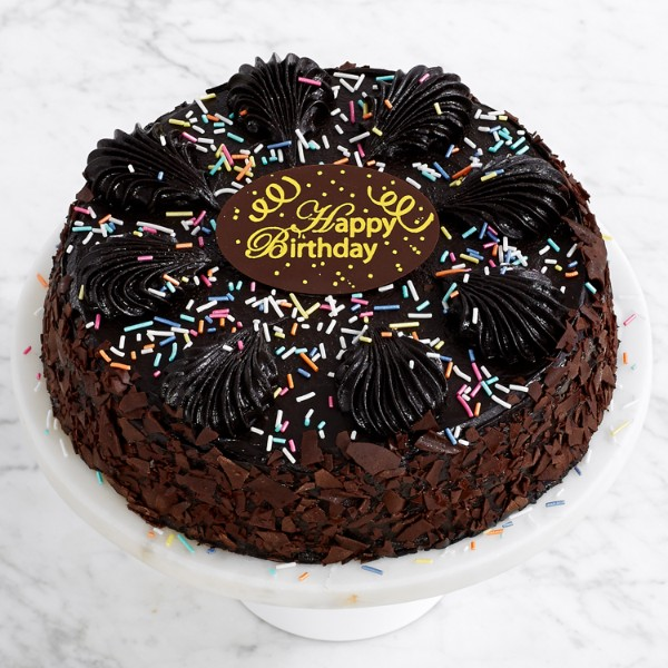 Happy Birthday Chocolate Mousse Torte with Plaque