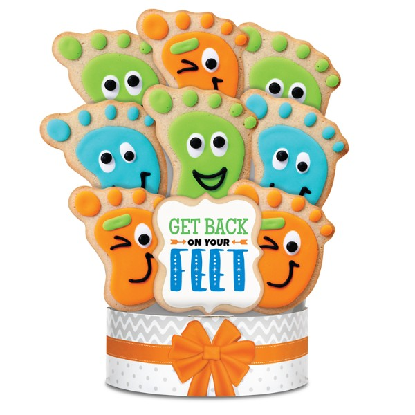 Get Back On Your Feet 9 Piece Cookie Bouquet