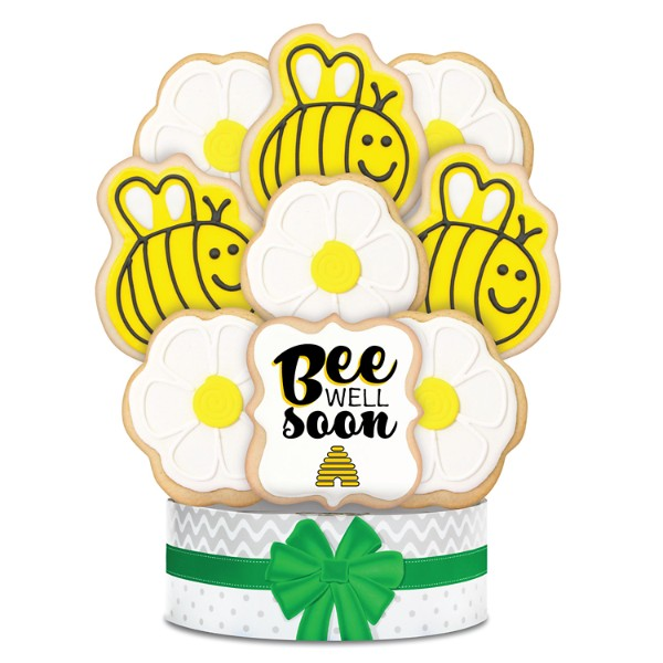 Bee Well Soon 9 Piece Cookie Bouquet