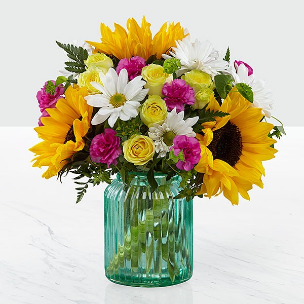 Sunlit Meadows™ Bouquet by Better Homes and Gardens® - VASE INCLUDED - Image 1 Of 2
