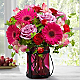 Pink Exuberance Bouquet by Better Homes and Gardens® - VASE INCLUDED - Thumbnail 1 Of 3
