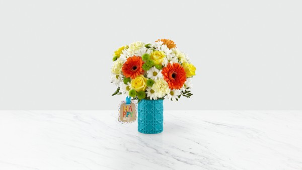 Happy Day Birthday™ Bouquet by Hallmark - VASE INCLUDED - Image 1 Of 2