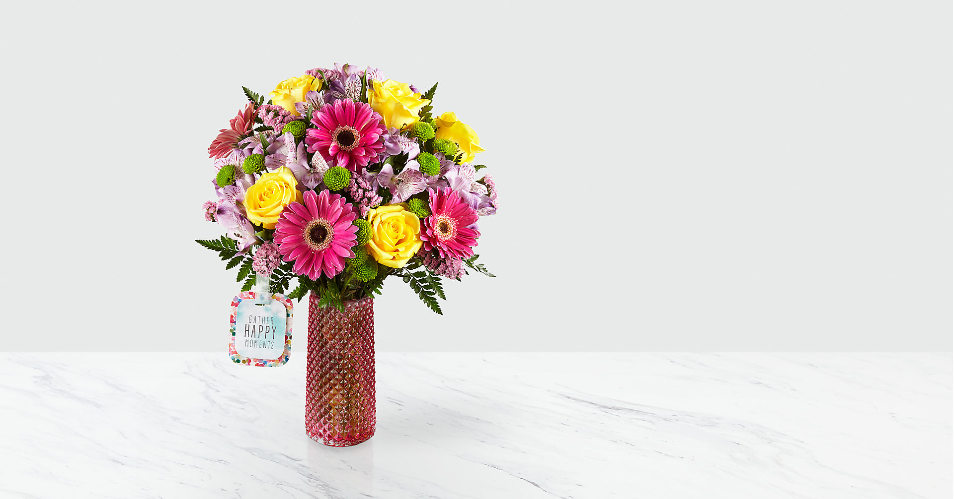 Happy Moments™ Bouquet by Hallmark - VASE INCLUDED - Image 1 Of 2