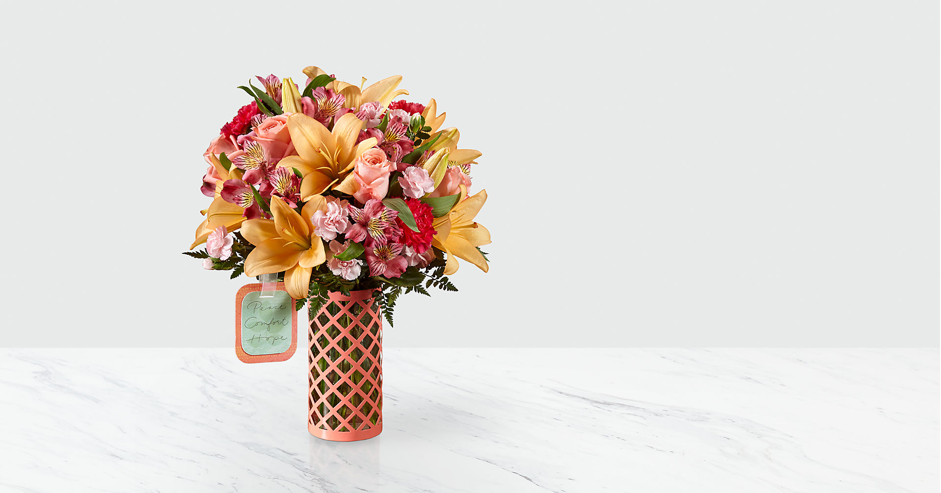 Peace, Comfort and Hope™ Bouquet by Hallmark - VASE INCLUDED - Image 1 Of 3