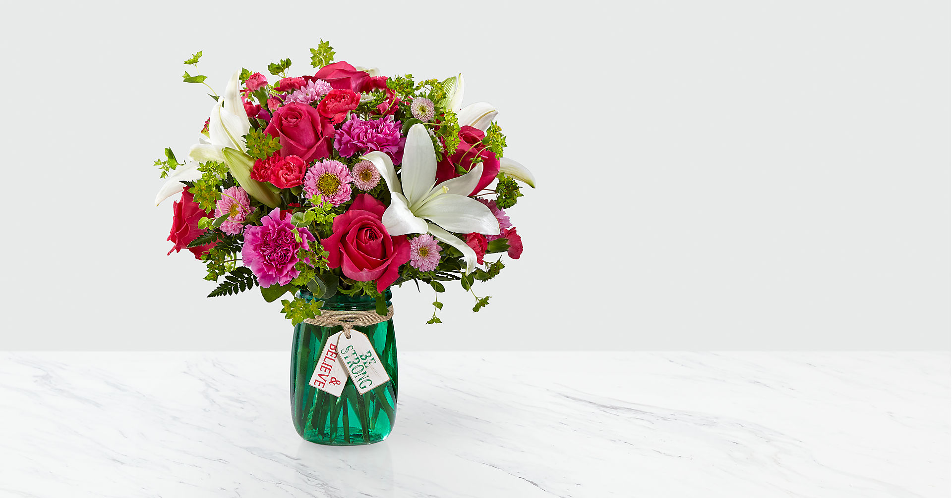 Be Strong & Believe™ Bouquet- VASE INCLUDED - Image 1 Of 5