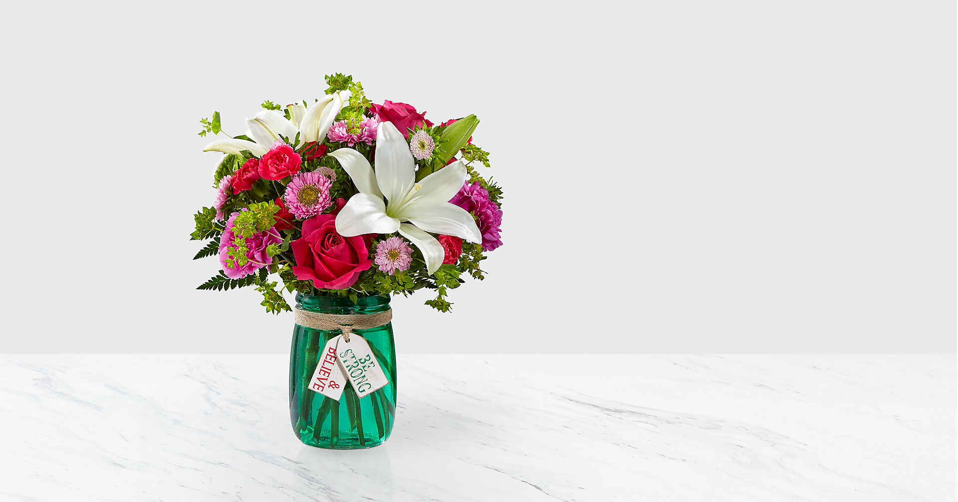 Be Strong & Believe™ Bouquet- VASE INCLUDED - Image 1 Of 3