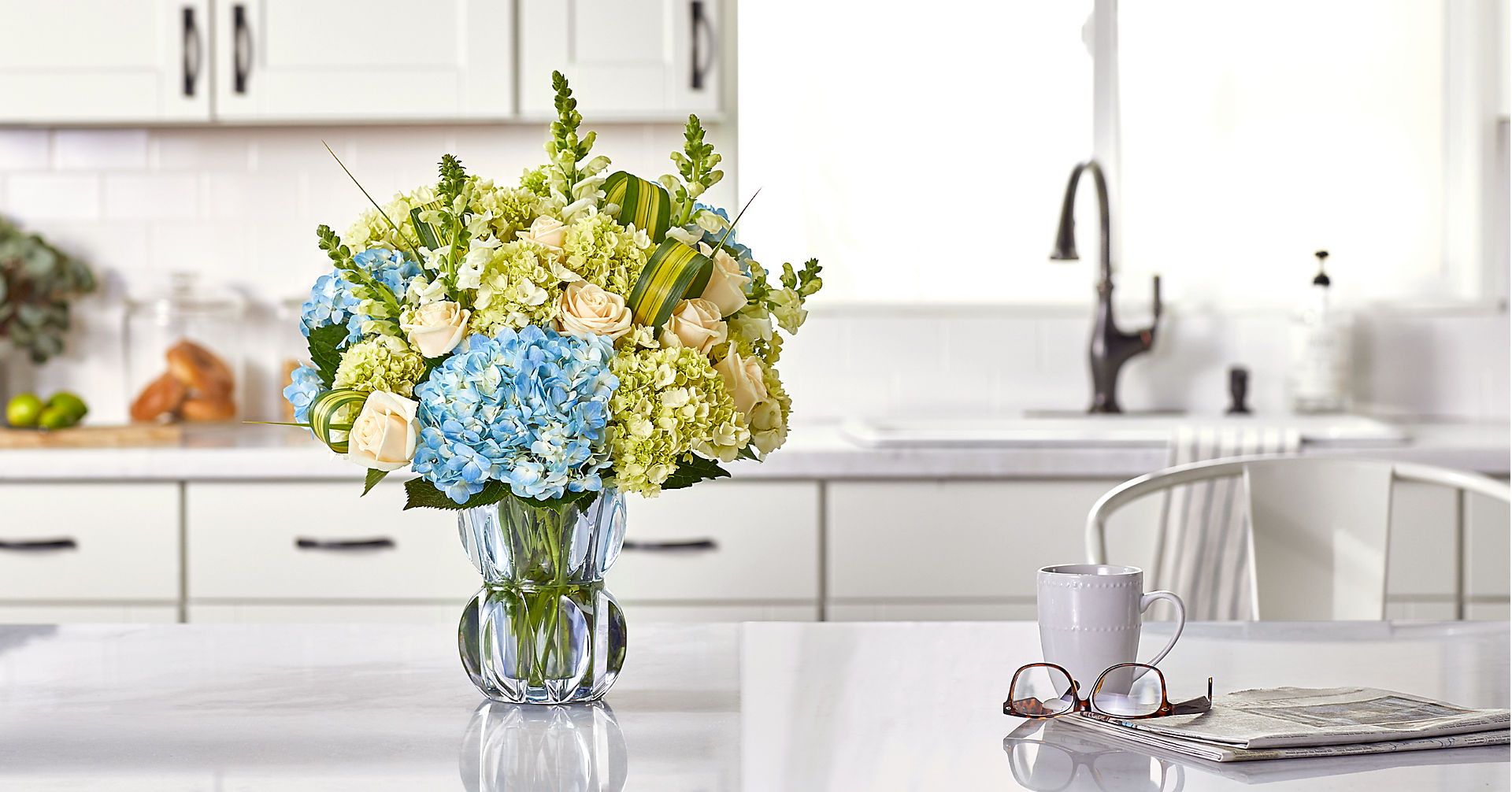 Superior Sights™ Luxury Bouquet - Blue & White - Image 5 Of 5