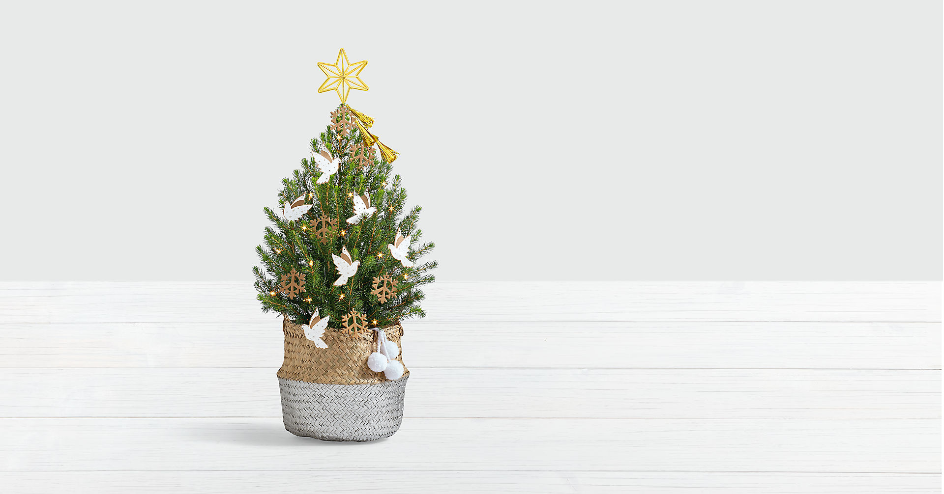 Dove and Peace Spruce Tree with Star