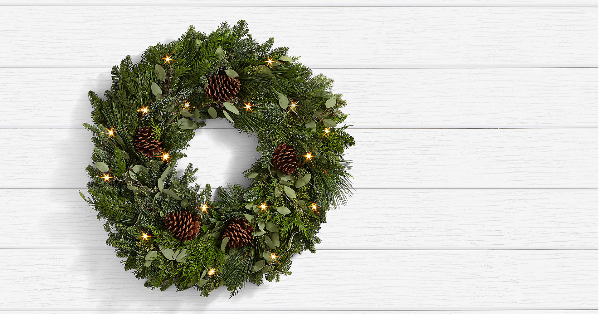 Winter Greetings Pine Wreath