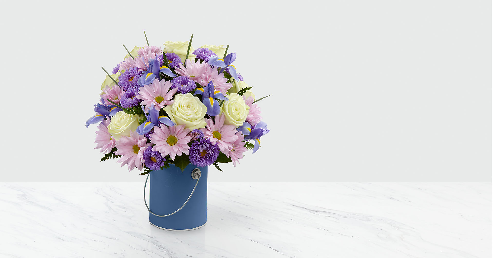 The Color Your Day Tranquility™ Bouquet - VASE INCLUDED