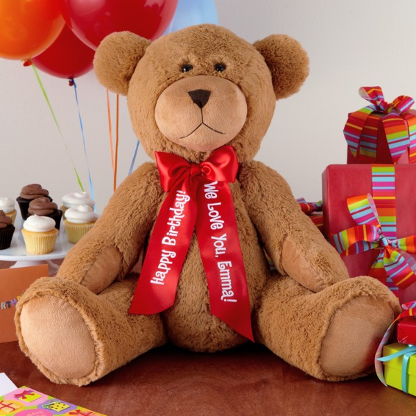 "27"" plush teddy bear"