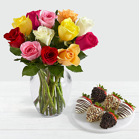 Flowers Strawberries Send A Beautiful Bouquet Juicy Strawberries