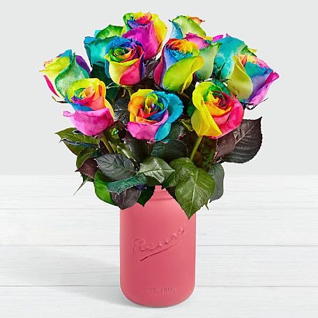 Unicorn Roses  Long Stemmed Tie Dyed Roses