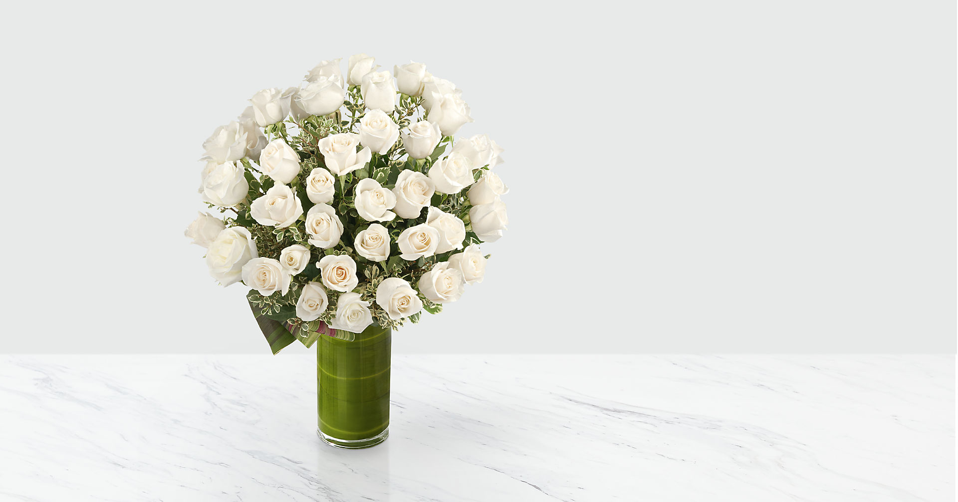 Clarity Luxury Rose Bouquet - 24-inch Premium Long-Stemmed Roses - Image 1 Of 4