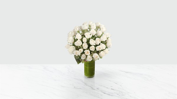 Clarity Luxury Rose Bouquet - 24-inch Premium Long-Stemmed Roses - Thumbnail 1 Of 3