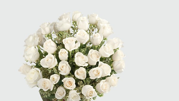 Clarity Luxury Rose Bouquet - 24-inch Premium Long-Stemmed Roses - Image 3 Of 3