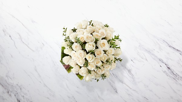 Clarity Luxury Rose Bouquet - 24-inch Premium Long-Stemmed Roses - Image 2 Of 3