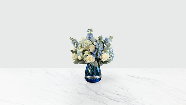 Faithful Guardian™ Bouquet - Blue & White - Image 1 Of 2