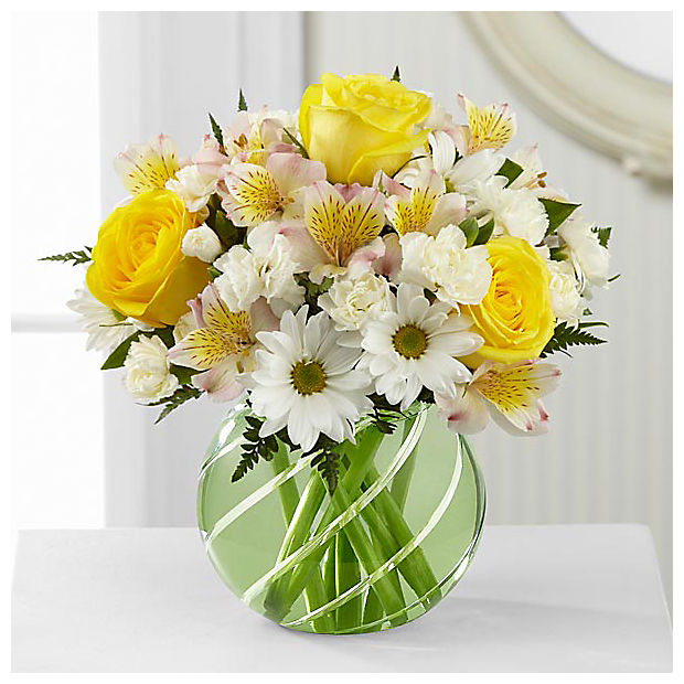 Sunlit Blooms™ Bouquet - VASE INCLUDED - Image 1 Of 2