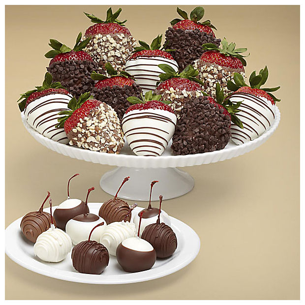 10 Dipped Cherries & Fancy Strawberries