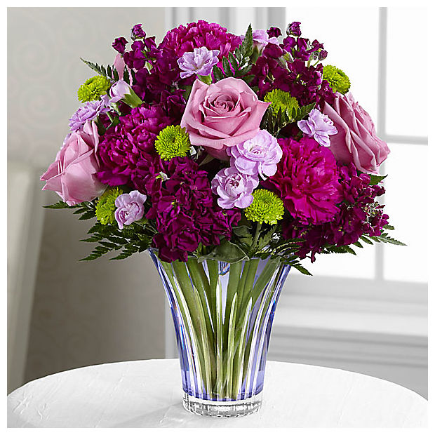 The Timeless Traditions™ Bouquet - CUT GLASS VASE INCLUDED - Image 1 Of 2