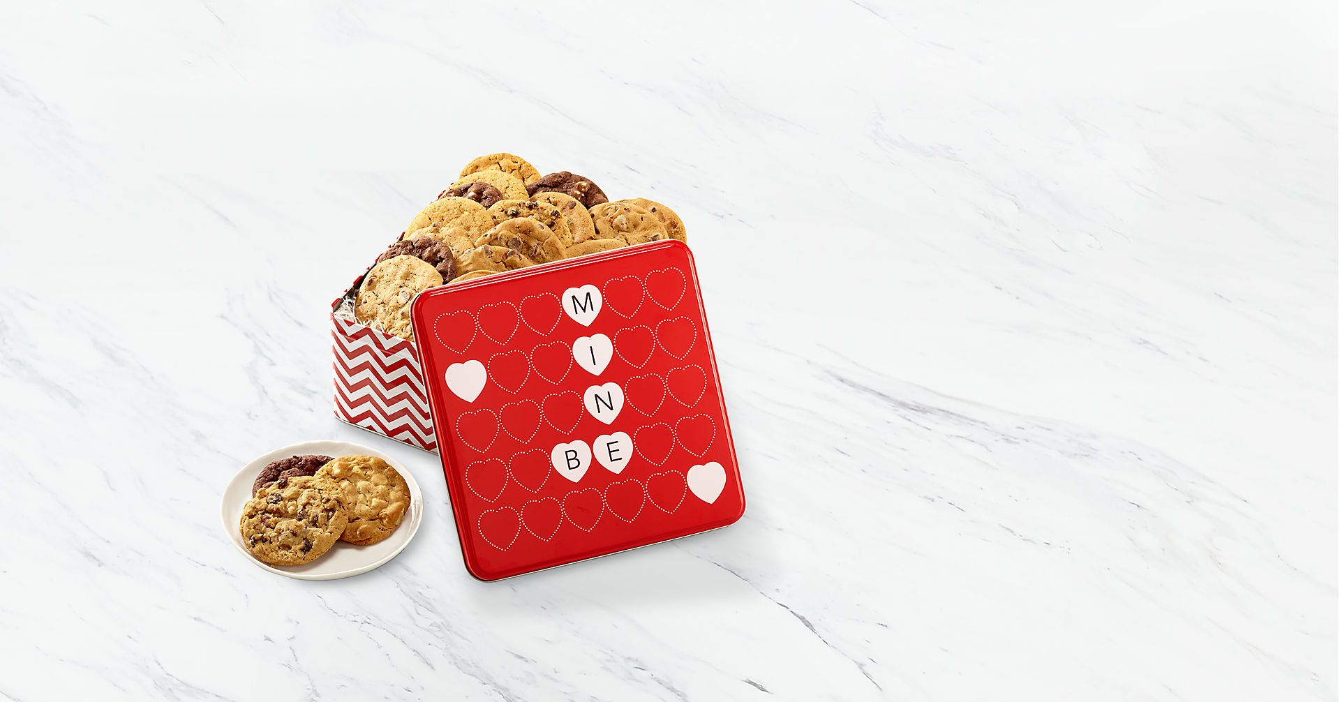 Mrs. Fields® Be Mine Valentine Cookie Tin - Image 1 Of 3