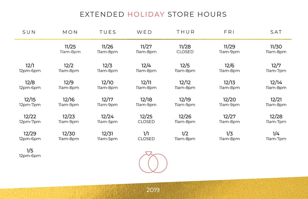 Store extended holiday hours