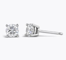 Shop Diamond Solitaire Earrings