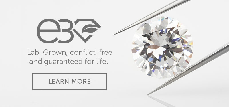 E3 Diamonds, Lab-Grown, conflict-free and guaranteed for life