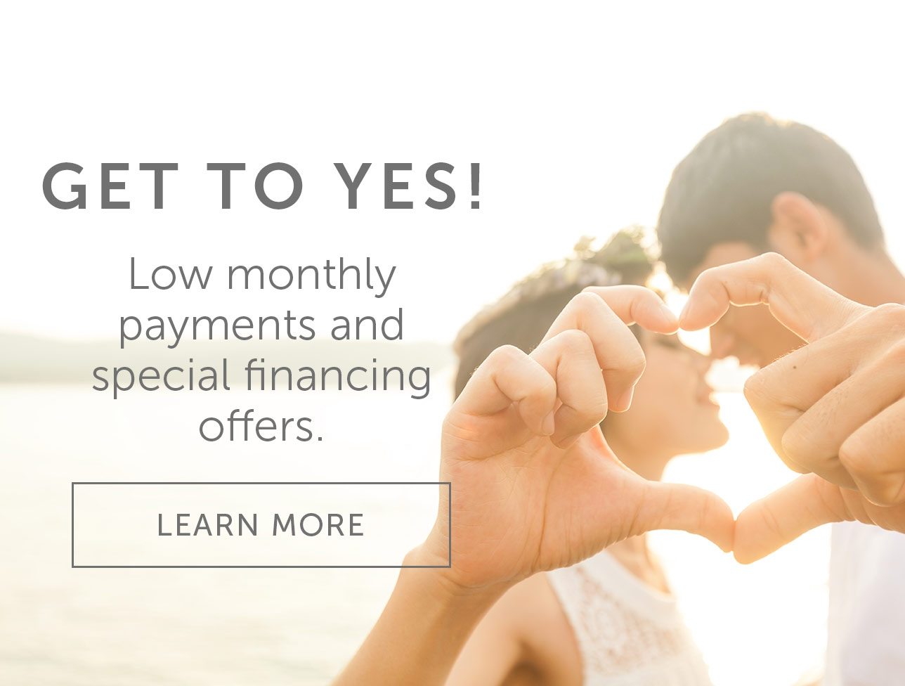Low monthly payments and special financing offers.
